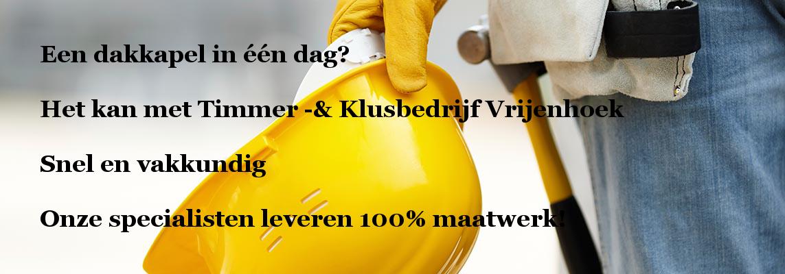 banner dakkapel in 1 dag Timmer- en Klusbedrijf Vrijenhoek Spijkenisse